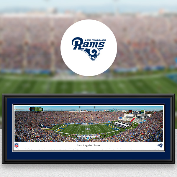 Los Angeles Rams Panoramic Posters and Fan Cave Decor