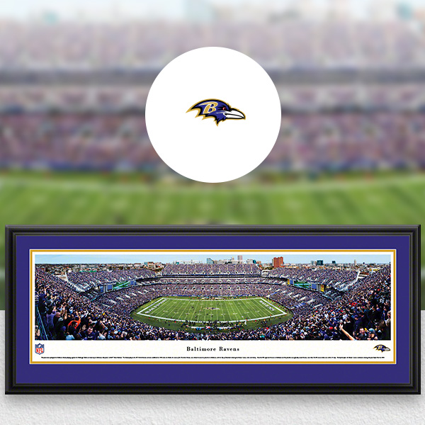 Baltimore Ravens Panoramic Posters and Fan Cave Decor