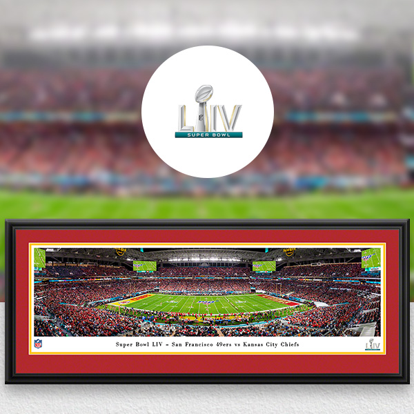 NFL Super Bowl Panoramic Posters and Fan Cave Decor