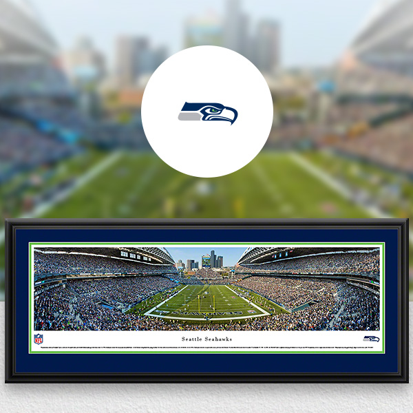 Seattle Seahawks Panoramic Posters and Fan Cave Decor