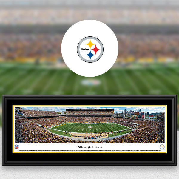 Pittsburgh Steelers Panoramic Posters and Fan Cave Decor