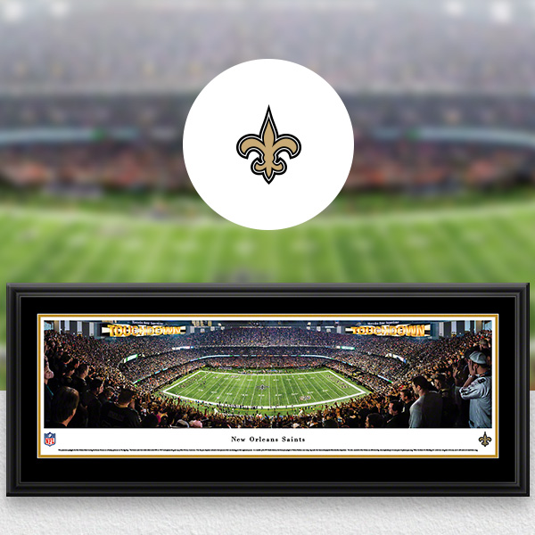 New Orleans Saints Panoramic Posters and Fan Cave Decor
