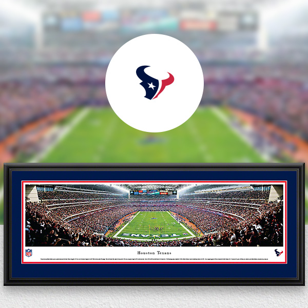 Houston Texans Panoramic Posters and Fan Cave Decor