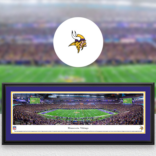 Minnesota Vikings Panoramic Posters and Fan Cave Decor