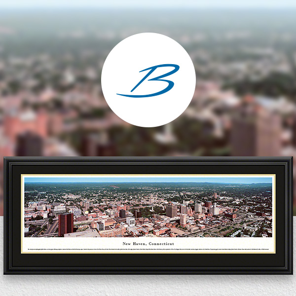 New Haven, CT City Skyline Panoramic Wall Art