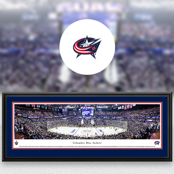 Columbus Blue Jackets Panoramic Posters and Fan Cave Decor