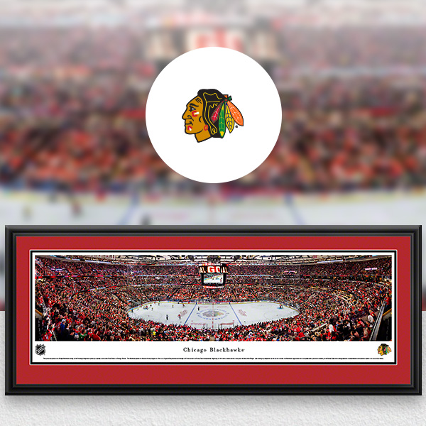 NHL Chicago Blackhawks Panoramic Posters and Fan Cave Decor