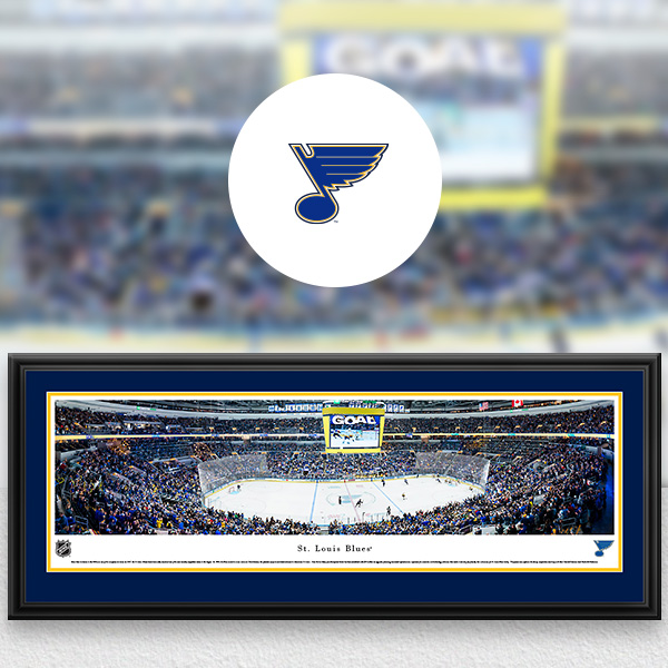 St. Louis Blues Panoramic Posters and Fan Cave Decor