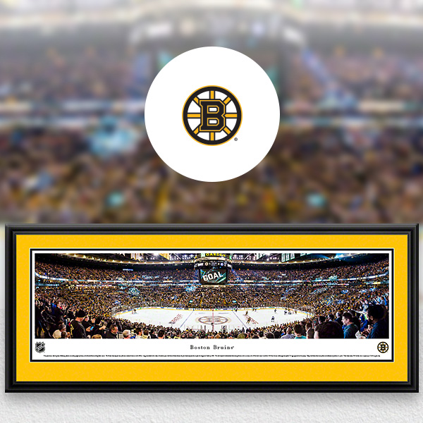 NHL Boston Bruins Panoramic Posters and Fan Cave Decor