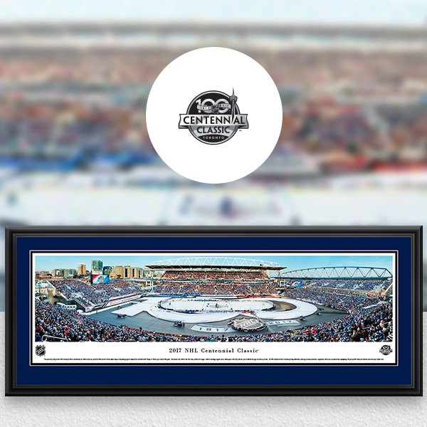 NHL Centennial Classic Panoramic Posters and Fan Cave Decor