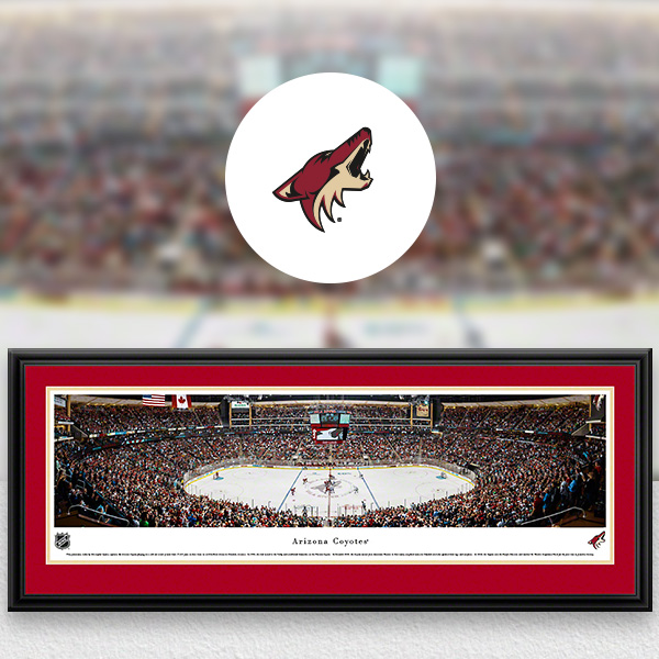 Arizona Coyotes Panoramic Posters and Fan Cave Decor