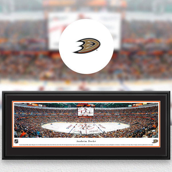 Anaheim Ducks Panoramic Posters and Fan Cave Decor