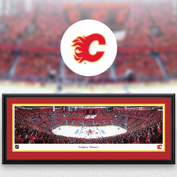 NHL Calgary Flames Panoramic Posters and Fan Cave Decor