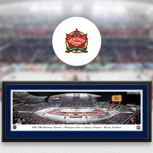 NHL Heritage Classic Panoramic Posters and Fan Cave Decor