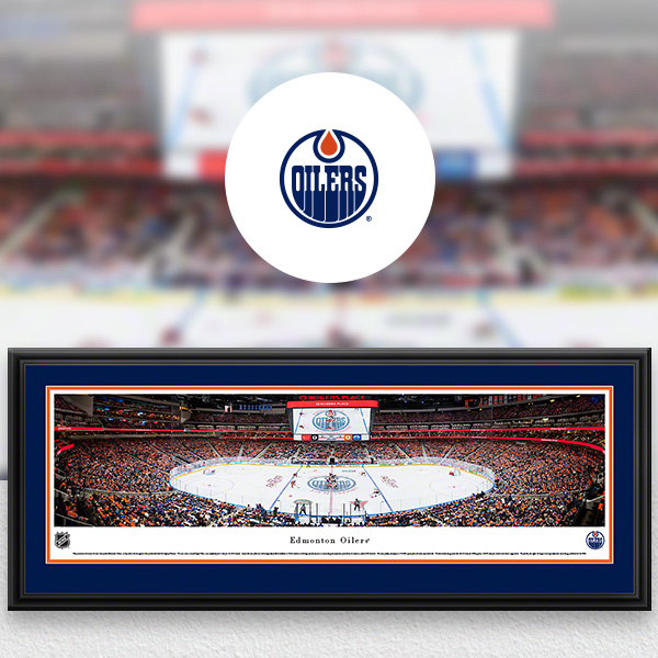 Edmonton Oilers Panoramic Posters and Fan Cave Decor