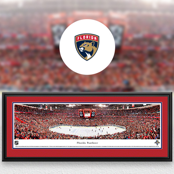 Florida Panthers Panoramic Posters and Fan Cave Decor