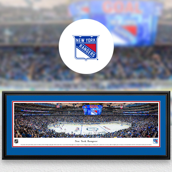 New York Rangers Panoramic Posters and Fan Cave Decor