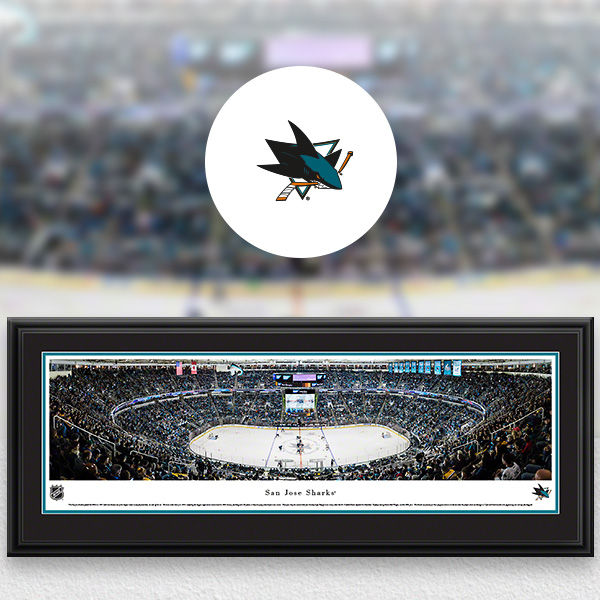 San Jose Sharks Panoramic Posters and Fan Cave Decor