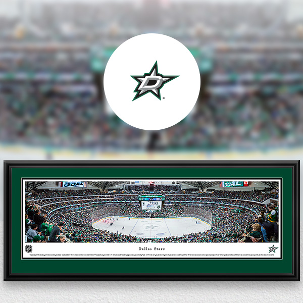 Dallas Stars Panoramic Posters and Fan Cave Decor