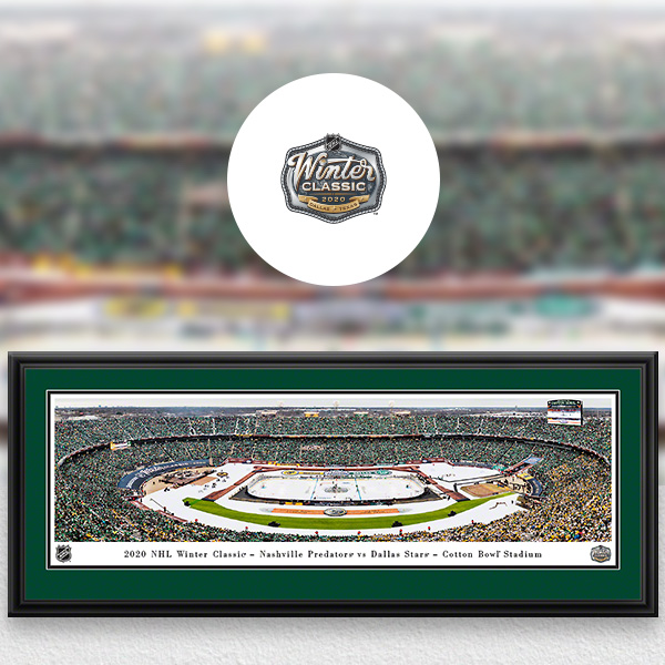 NHL Winter Classic Panoramic Posters and Fan Cave Decor