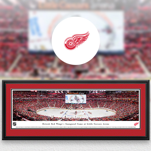 Detroit Red Wings Panoramic Posters and Fan Cave Decor
