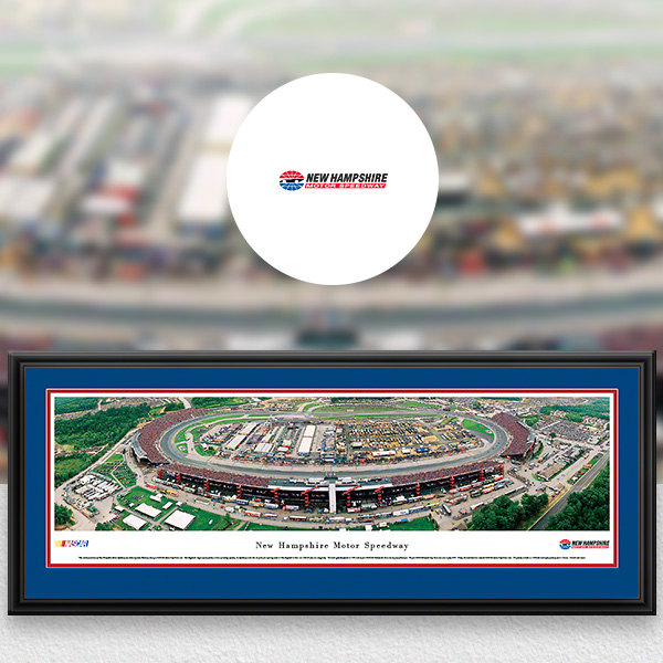 New Hampshire Motor Speedway NASCAR Panoramic Posters and Fan Cave Decor