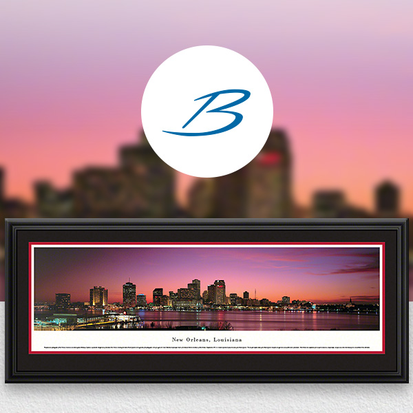 New Orleans, LA City Skyline Panoramic Wall Art