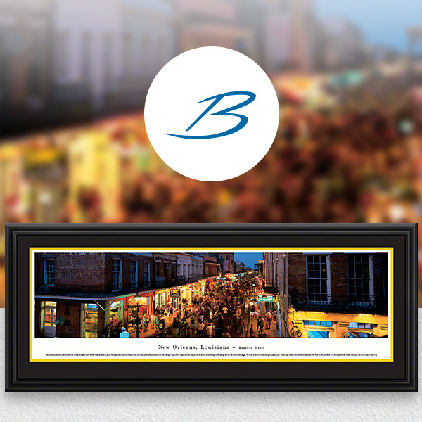 Bourbon Street, New Orleans City Skyline Panoramic Wall Art