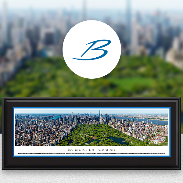 Central Park, New York City City Skyline Panoramic Wall Art