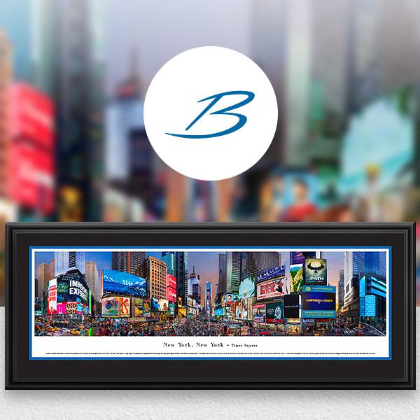 Times Square, New York City Skyline Panoramic Wall Art