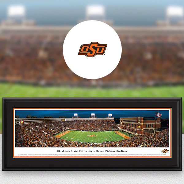 Oklahoma State Cowboys Panoramic Posters and Fan Cave Decor