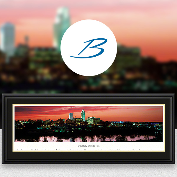 Omaha, NE City Skyline Panoramic Wall Art