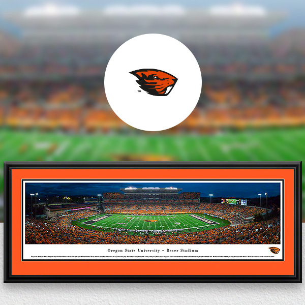 Oregon State Beavers Panoramic Posters and Fan Cave Decor