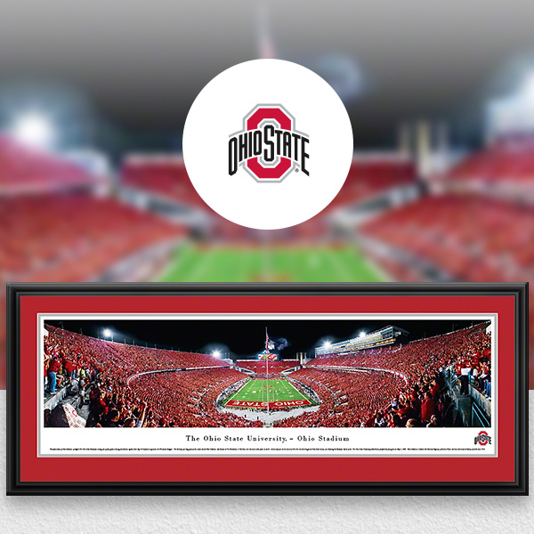 Ohio State Buckeyes Panoramic Posters and Fan Cave Decor