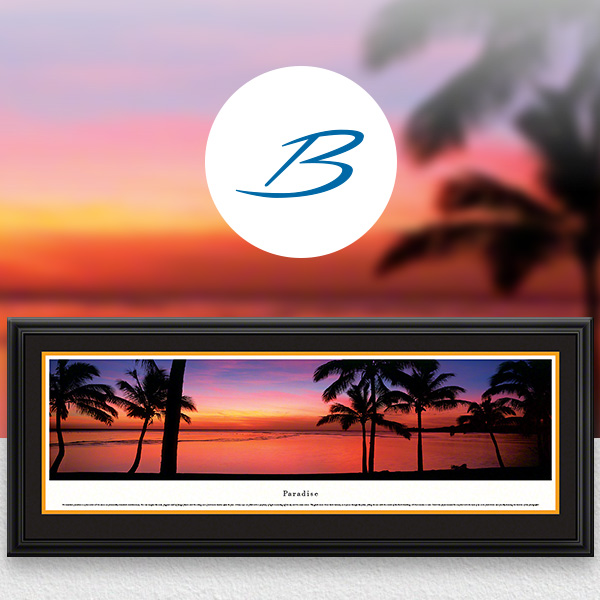 Paradise Sunset Beach World Attractions Panoramic Wall Art