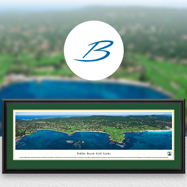 Pebble Beach Golf Links Panoramic Wall Art