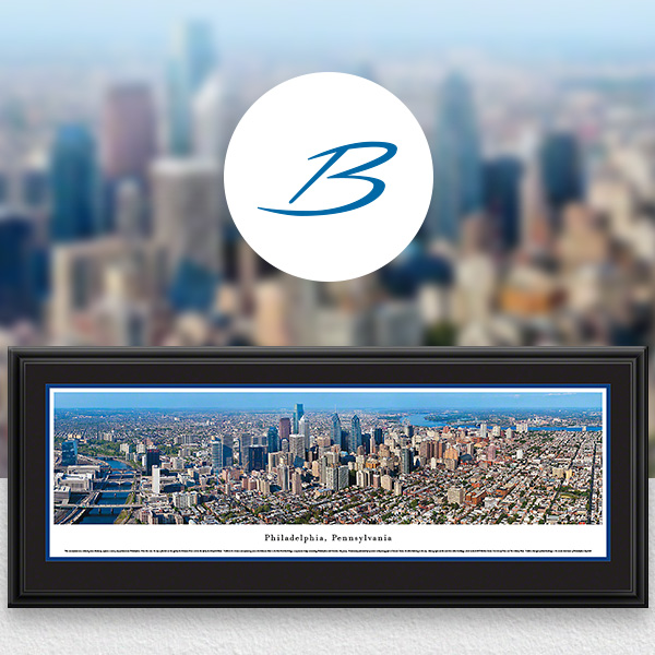 Philadelphia, PA City Skyline Panoramic Wall Art