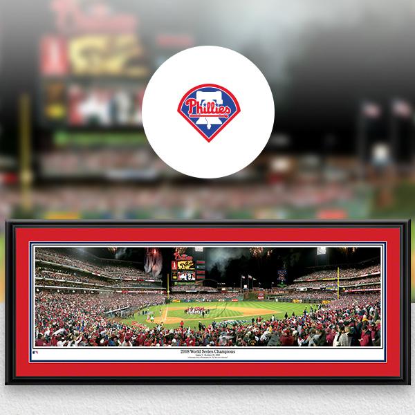 Philadelphia Phillies MLB Baseball Framed Panoramic Fan Cave Decor