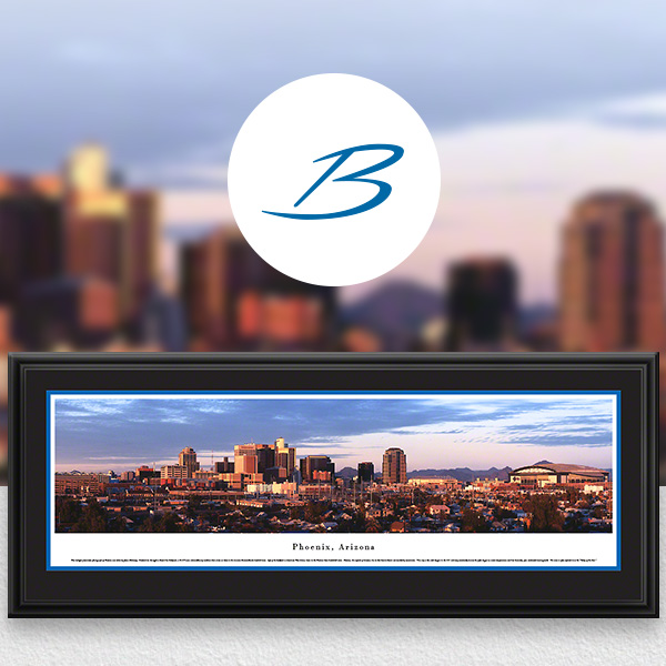 Phoenix, AZ City Skyline Panoramic Wall Art