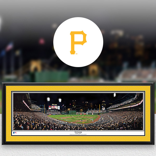 Pittsburgh Pirates MLB Baseball Framed Panoramic Fan Cave Decor