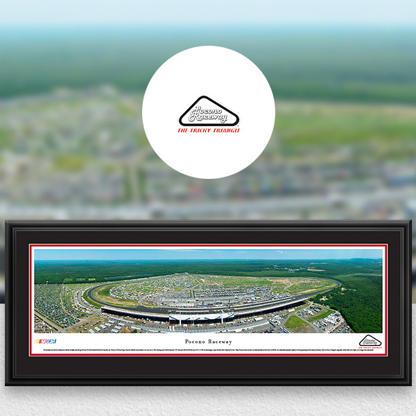 Pocono Raceway NASCAR Panoramic Posters and Fan Cave Decor
