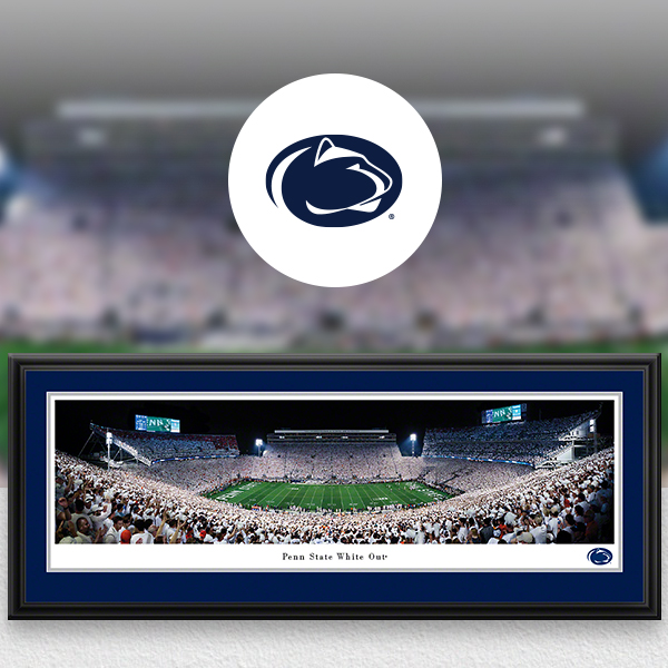 Penn State Nittany Lions Panoramic Posters and Fan Cave Decor