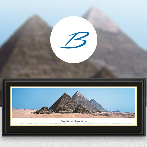 Great Pyramids of Giza, Egypt World Attractions Panoramic Wall Art