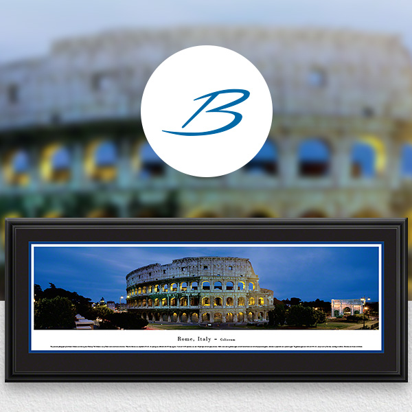 Roman Coliseum Rome, Italy Skyline Panoramic Wall Art