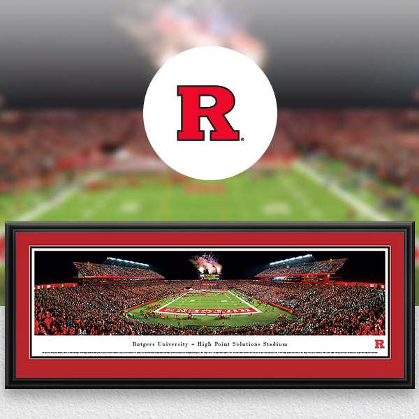 Rutgers Scarlet Knights Panoramic Posters and Fan Cave Decor