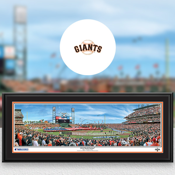 San Francisco Giants MLB Baseball Framed Panoramic Fan Cave Decor