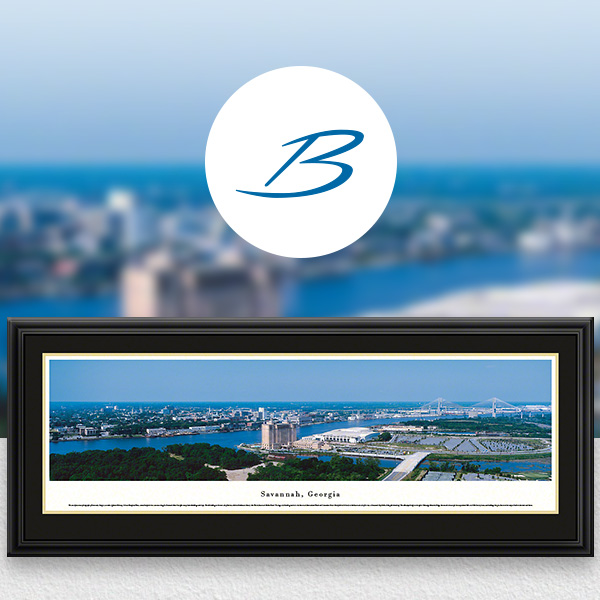 Savannah, GA City Skyline Panoramic Wall Art