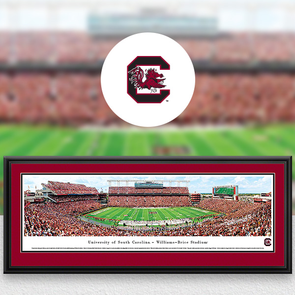 South Carolina Gamecocks Panoramic Posters and Fan Cave Decor