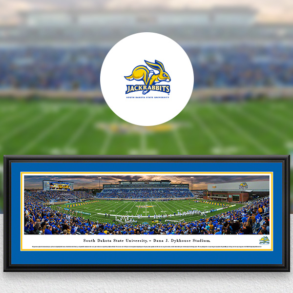 South Dakota State Jackrabbits Panoramic Posters and Fan Cave Decor