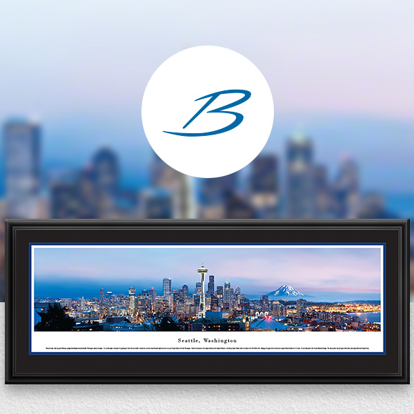 Seattle, WA City Skyline Panoramic Wall Art